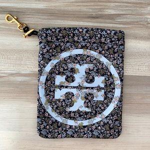 ❤️ Tory Burch floral logo nylon pouch